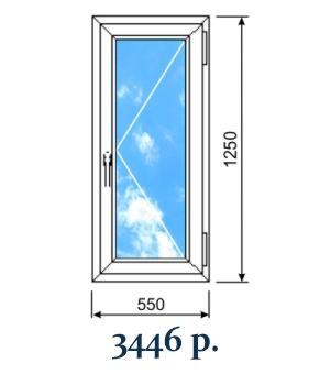 Глухое вертикальное окно