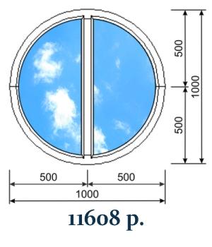 Круглое декоративное окно с импостом